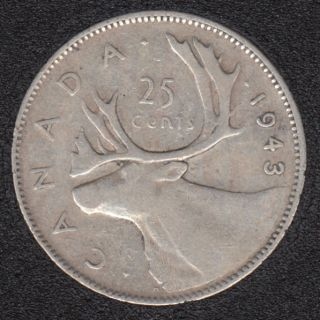 1943 - Canada 25 Cents