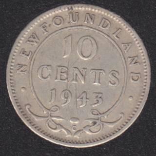 Newfoundland - 1943 C - 10 Cents