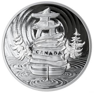 2019 - $50 - 5 oz. Pure Silver Coin - Symbolic Canada