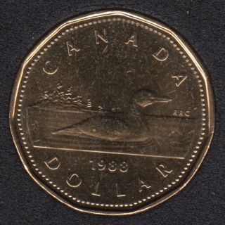 1988 - B.Unc - Canada Loon Dollar