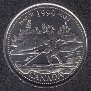 1999 - #3 B.Unc - Mars - Canada 25 Cents