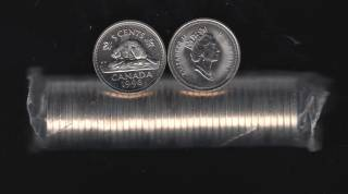 1998 Canada 5 Cents - 40 Coins - B.UNC