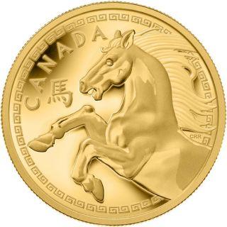 2014 - $2500 - Pièce de un kilogramme en or pur - Année du Cheval