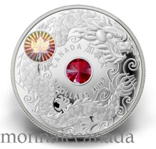 2009 - Pièce de 8 $ en argent sterling - Érable de la sagesse
