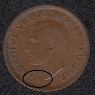 1939 - Break Bust to G - Canada Cent