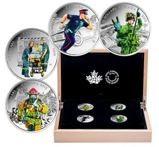 2015 Canada $15 Dollars Fine Silver - National Heroes - 4 Coins Set