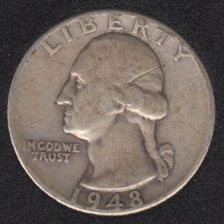 1948 D - Washington - 25 Cents