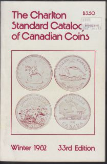 1982 - Charlton - Standard Catalogue of Canadian Coins Winter - Usagé