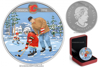 2018 - $10 - Pure Silver Coloured Coin - Learning to Play: Calgary Flames®
