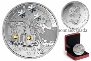 2015 - $20 - 1 oz. Fine Silver Coin – Holiday Reindeer