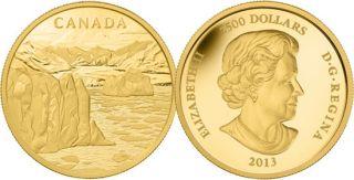 2013 - $2500 - 1 Kilo Fine Gold Coin - Canada's Arctic Landscape