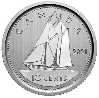 2021 - Specimen - Canada 10 Cents