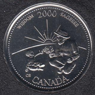 2000 - #9 NBU - Sagesse - Canada 25 Cents