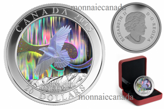 2015 - $20 - 1 oz. Fine Silver Hologram Coin – A Story of the Northern Lights: The Raven