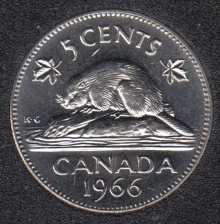 1966 - B.Unc - Canada 5 Cents