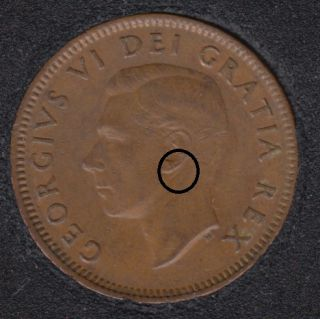 1952 - Double Clash on Branch & Clash on Ear - Canada Cent