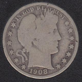 1908 D - Barber - 50 Cents