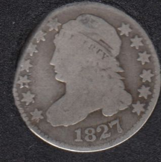1827 - Capped Bust - Clip - 10 Cents