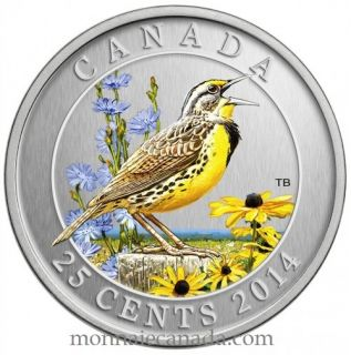 2014 - 25 Cents - Eastern Meadowlark - Coloured Coin