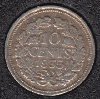 1935 - 10 Cents - Pays-Bas
