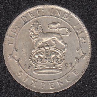 1921 - 6 Pence - Grande Bretagne