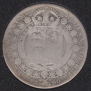 1890 - Half Crown - Grande Bretagne