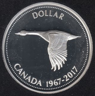 2017 - 1967 - Proof - Argent Fin - Canada Dollar