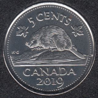 2019 - B.Unc - Canada 5 Cents