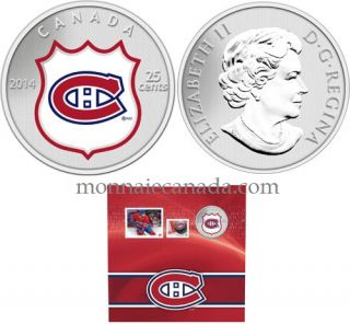 2014 - NHL Coin and Stamp Gift Set - Montreal Canadiens