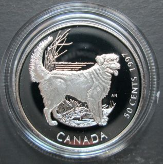 1997 Canada 50 Cents Sterling Silver - Nova Scotia Retriever Dog