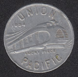 1934 - Union Pacific Train - Lucky Piece