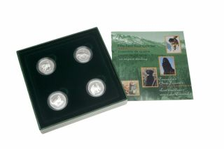 1997 Sterling Silver Fifty cents Four coin Set 50 cent dog best friends