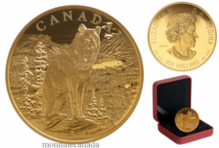2015 - $350 - 99.999% Pure Gold Coin - Imposing Alpha Wolf
