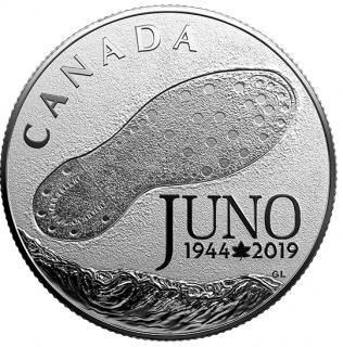 2019 - $3 - Pièce en argent pur - 75e anniversaire de la campagne de Normandie : Le jour J à Juno Beach