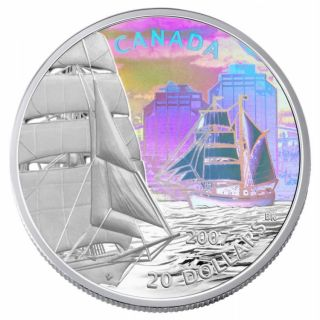 2007 $20 Fine Silver Tall Ships Series Coin - Brigantine Hologram - Tax Exempt