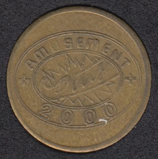 Arcade - Amusement Plus 2000 - No Cash Value - Gaming Token