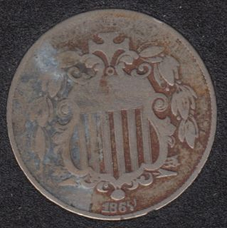 1867 - Shield - Without Rays - 5 Cents