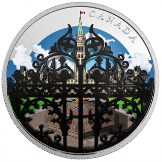 2018 - $30 - 2 oz. Pure Silver Coin - The Queen's Gate: Formal Entrance to Parliament Hill