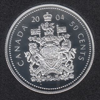 2004 - Proof - Uncrowned Portrait - Sterling Silver - Canada 50 Cents