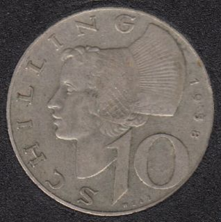 1958 - 10 Schilling - Argent - Autriche