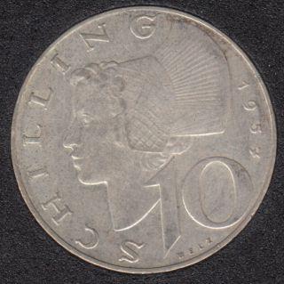 1957 - 10 Schilling - Argent - Autriche