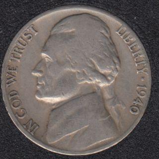 1940 S - Jefferson - 5 Cents