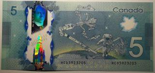 2013 $5 Dollars UNC - Macklem Poloz - Préfixe HCD