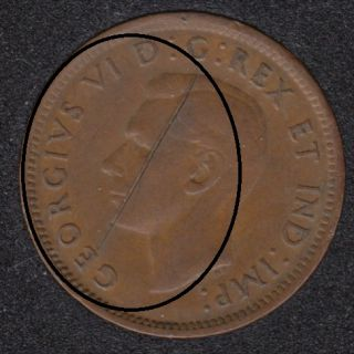 1946 - Planchet Flaw - Canada Cent