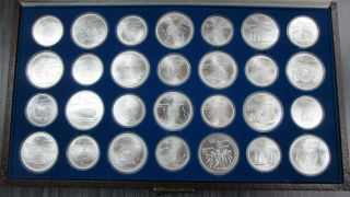 1976 $5.00 & $10.00 Argent Sterling - Olympiques Montreal - 28 Pieces