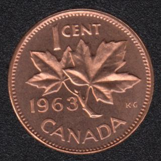 1963 - Proof Like - Canada Cent