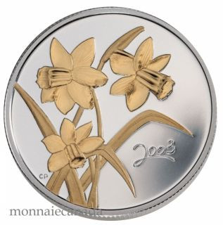2003 Golden Daffodil Proof 50ct Gold plated