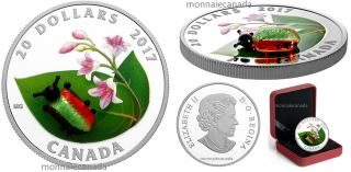 2017 - $20 - 1 oz. Pure Silver Coin - Venetian Glass Dogbane Beetle