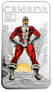 2018 - $20 - 1 oz. Pure Silver Coloured Coin - Captain Canuck
