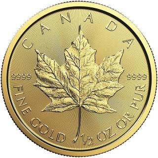 2017 - $20 - 1/2 oz Fine Gold 9999 - Gold Maple Leaf